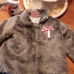 Toddler Faux Fur Jacket. 2T